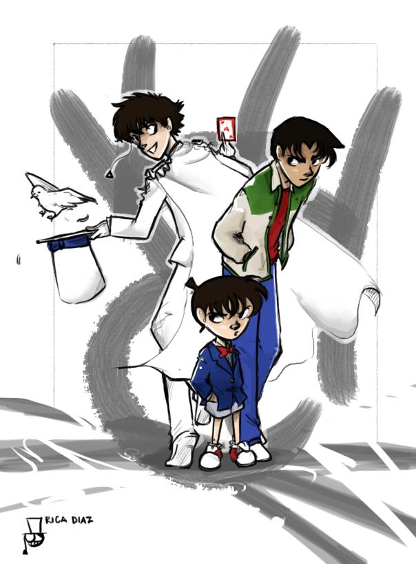 Kaito, Conan and Heiji by vanipy05