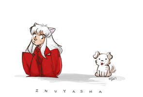 Good doggy, Inuyasha by vanipy05