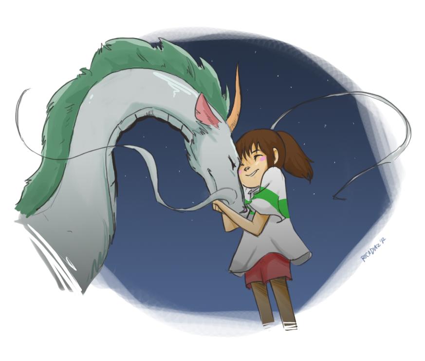 Spirited Away Chihiro And Haku By Vanipy05 On Deviantart
