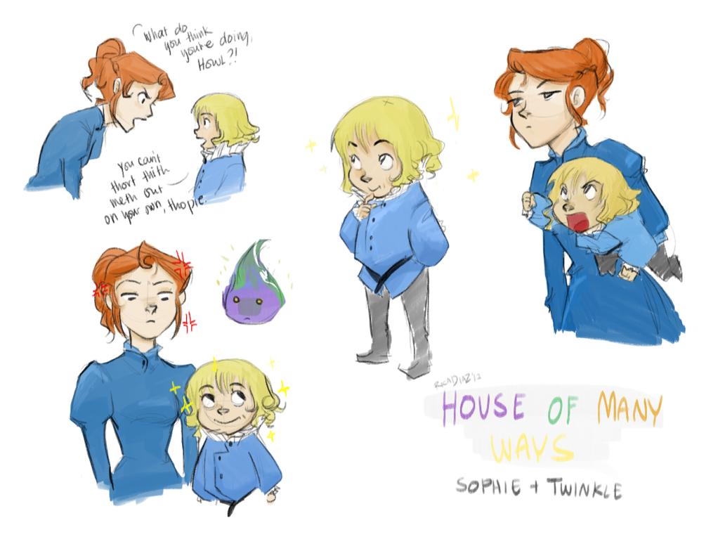 Sophie+Howl*ehem*Twinkle doodles by vanipy05