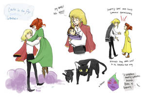 Sophie+Howl CITA doodles by vanipy05