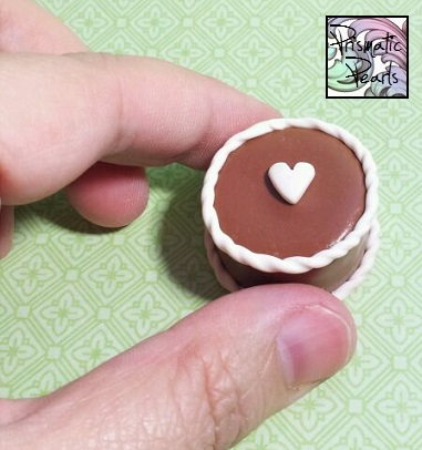 Chocolate Heart Miniature Dollhouse Cake by prismaticpearls