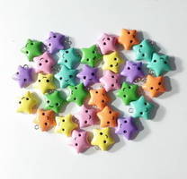 Lots of Pastel Kawaii Star Charms by prismaticpearls