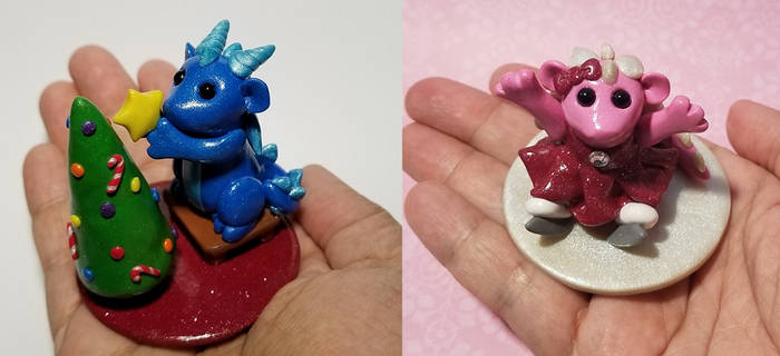 Baby Christmas-Themed 2 inch Sculptures