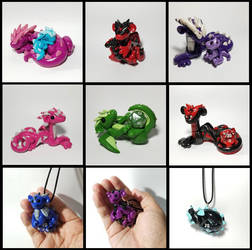 New Dragon Sculptures and Necklaces