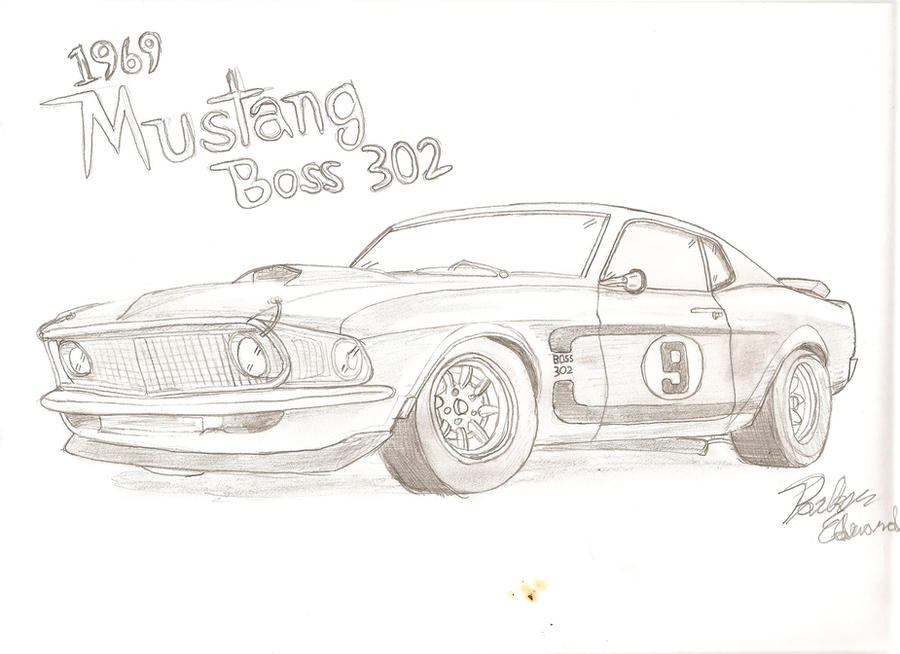 1969 ford mustang boss 302 by parkeredwards on deviantart