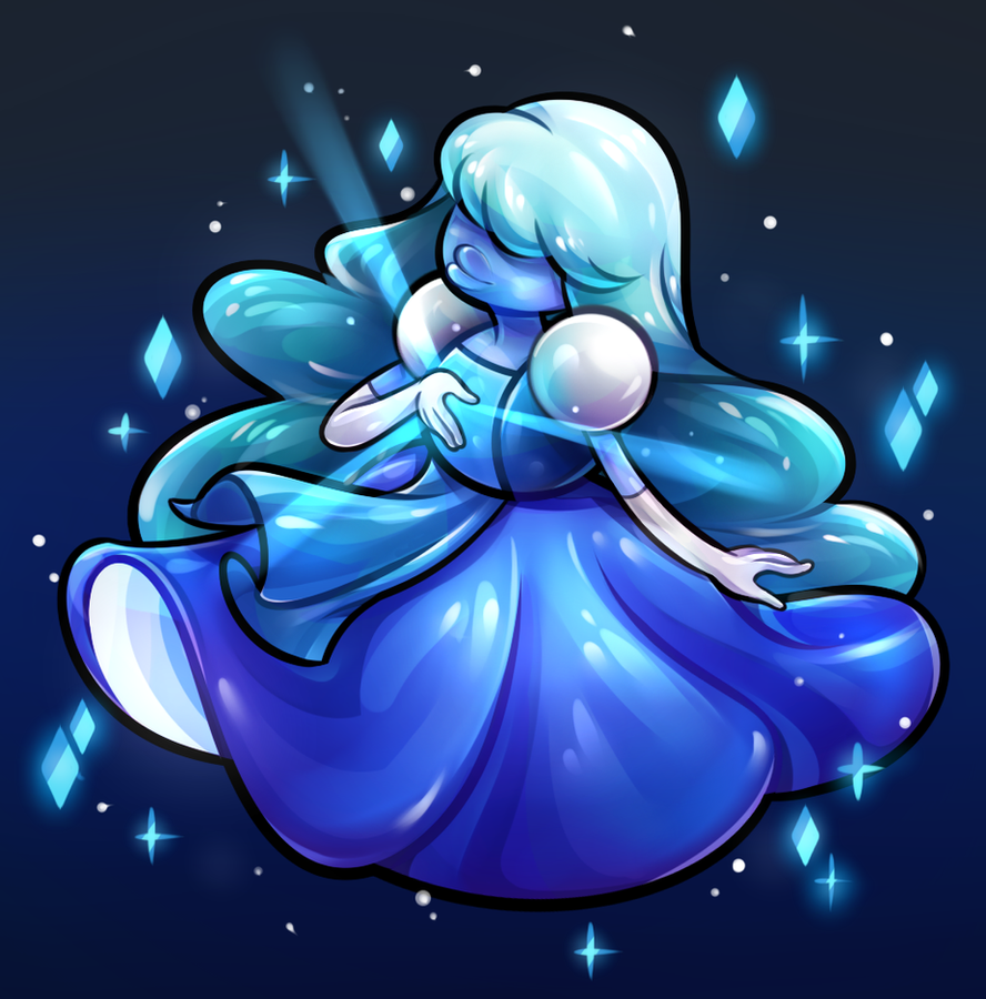 Fanart of Sapphire from Steven universe <3 I love Sapphire's design so much ahaha.  Also in Tumblr : renz1521.tumblr.com/post/11904… EDIT : THANK YOU SO MUCH TO ALL THE PEOPLE W...