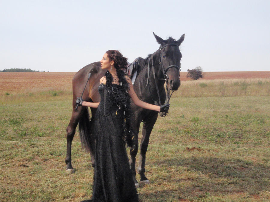 lady and horse 2 by AngieStock