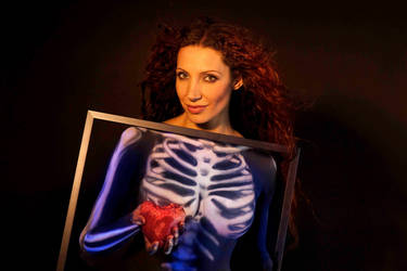Skeleton with heart by AngieStock
