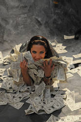 Money dollars crazyness by AngieStock