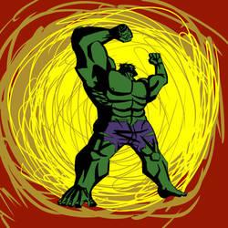Hulk pose