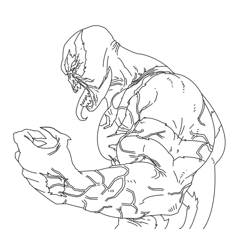 Venom Lineart by scorpion1069