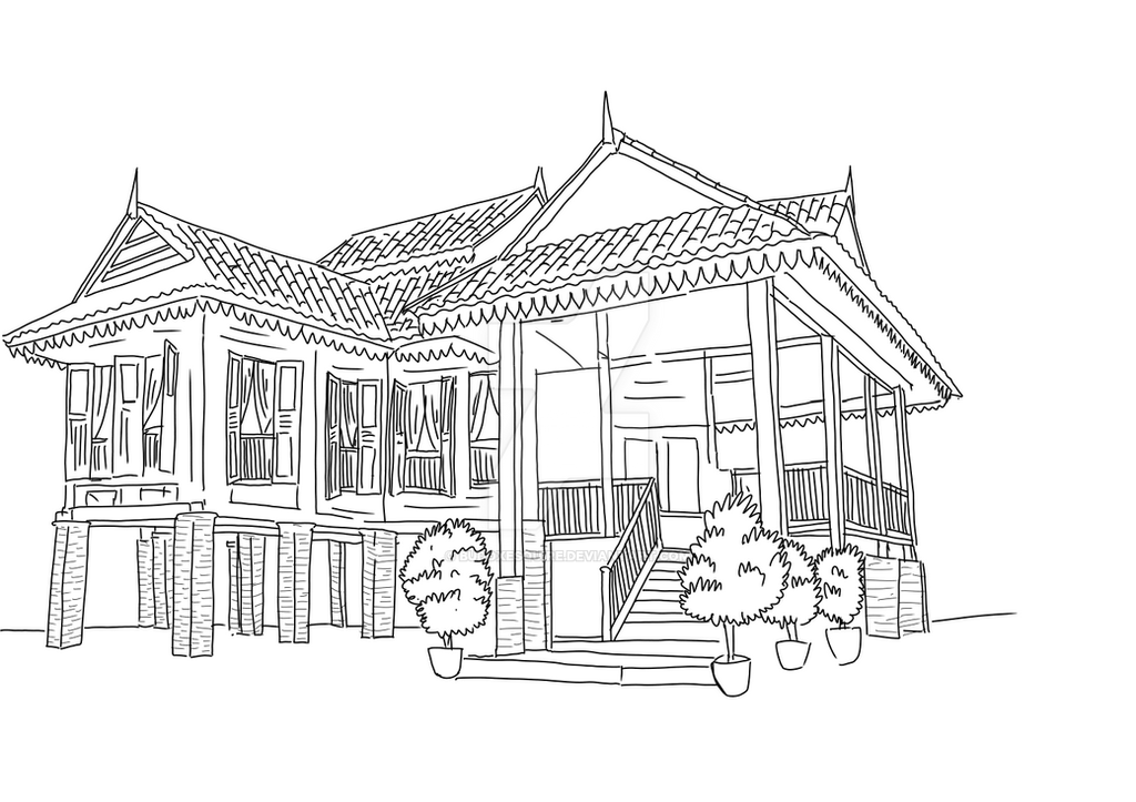 Old Malay House By Budoxesquire On Deviantart