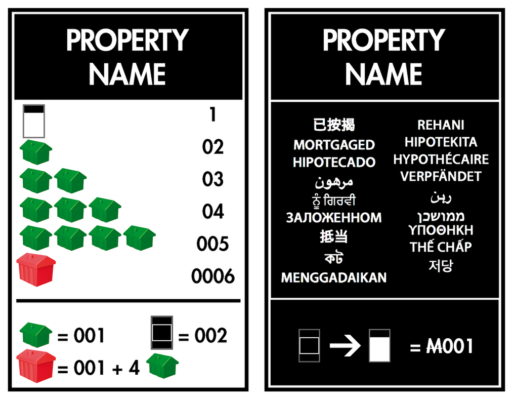 Property Title Deed Card Template - Int\'l Style by chadws on DeviantArt