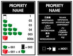 Property Title Deed Card Template - Int'l Style