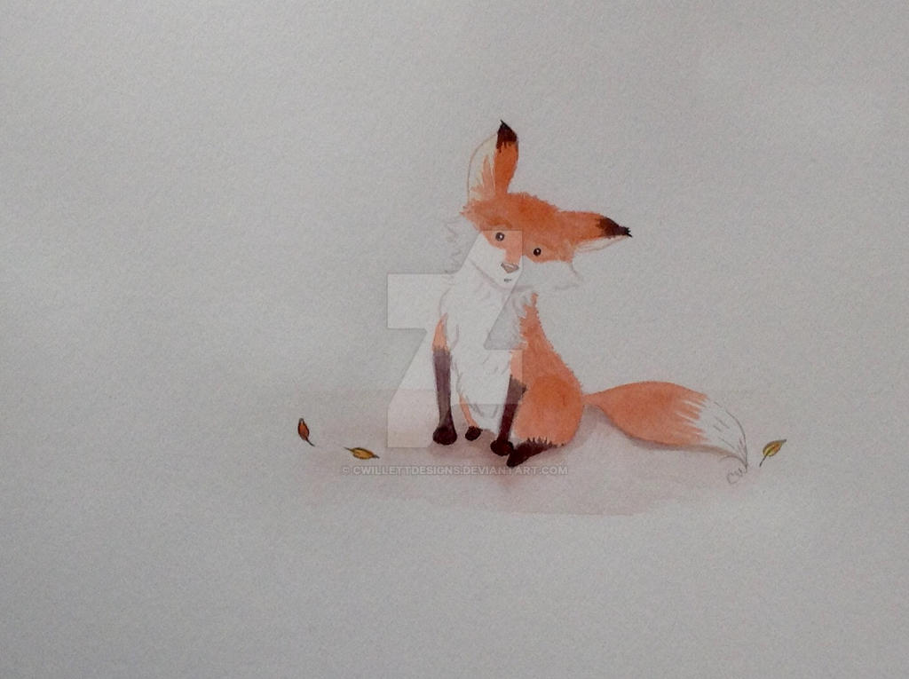 Curious Fox by cwillettdesigns