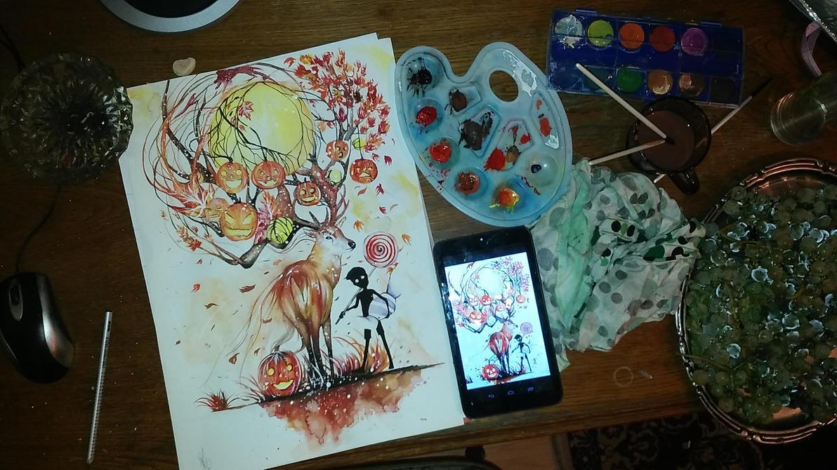 Autumn , Halloween by AlexaHeartfilia