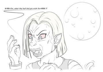 TFTuesday - Android 18 Oozaru by VioletRosefall