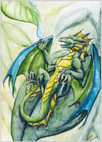 Raindrop Dragon - 10k kiriban by Naseilen