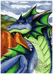 Blue Dragon ACEO