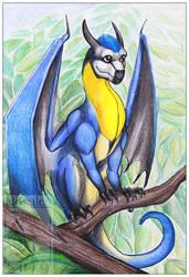 Dragon 36 - Blue tit by Naseilen