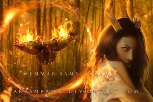 Burning Demon by akramkamil