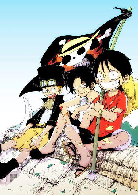 me and ace and luffy by kid-sabo on DeviantArt