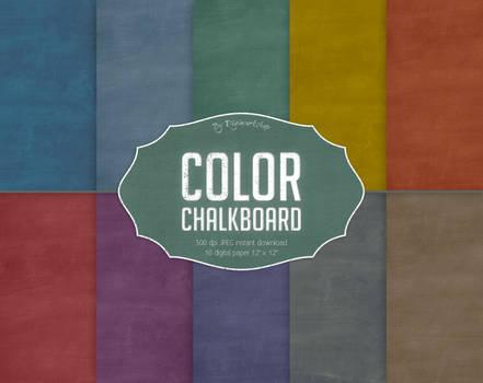 Color Chalkboard Digital Paper