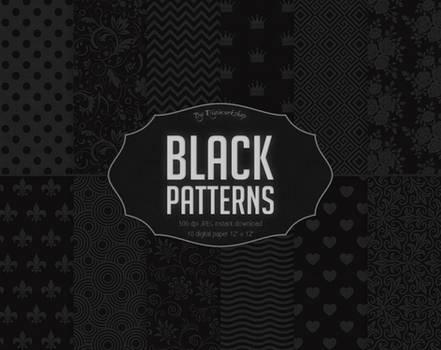 Black Digital Paper Black Patterns