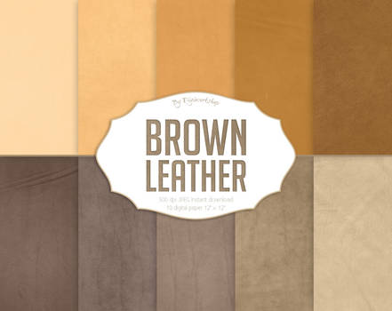 Leather Digital Paper Brown Leather