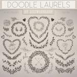 Doodle Laurels Clip Art Clipart Doodle Laurels