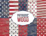 Wood Digital Paper Patriotic Wood