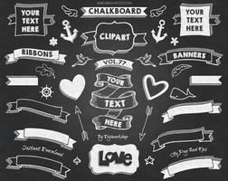 Chalkboard Clip Art Chalkboard Banner by DigiWorkshopPixels