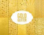 Gold Glitter Digital Paper Gold Glitter