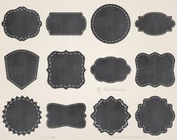 Chalkboard Label Clip Art Clipart Chalkboard Label by DigiWorkshopPixels