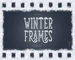 Digital Snow Winter Frames