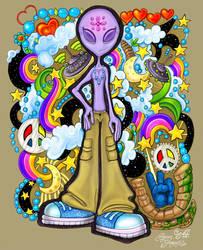 Alien Teen Dreams Doodle Color by kameryn