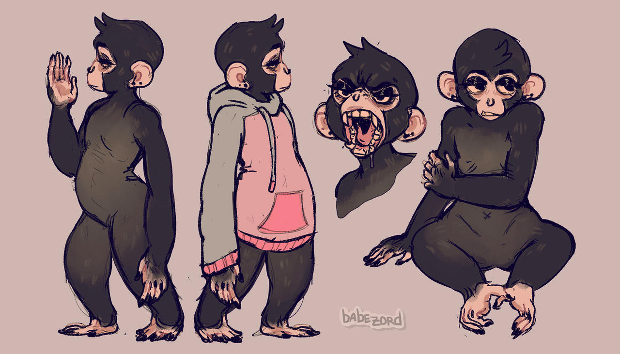 is that an ape with a nose ring by babezord