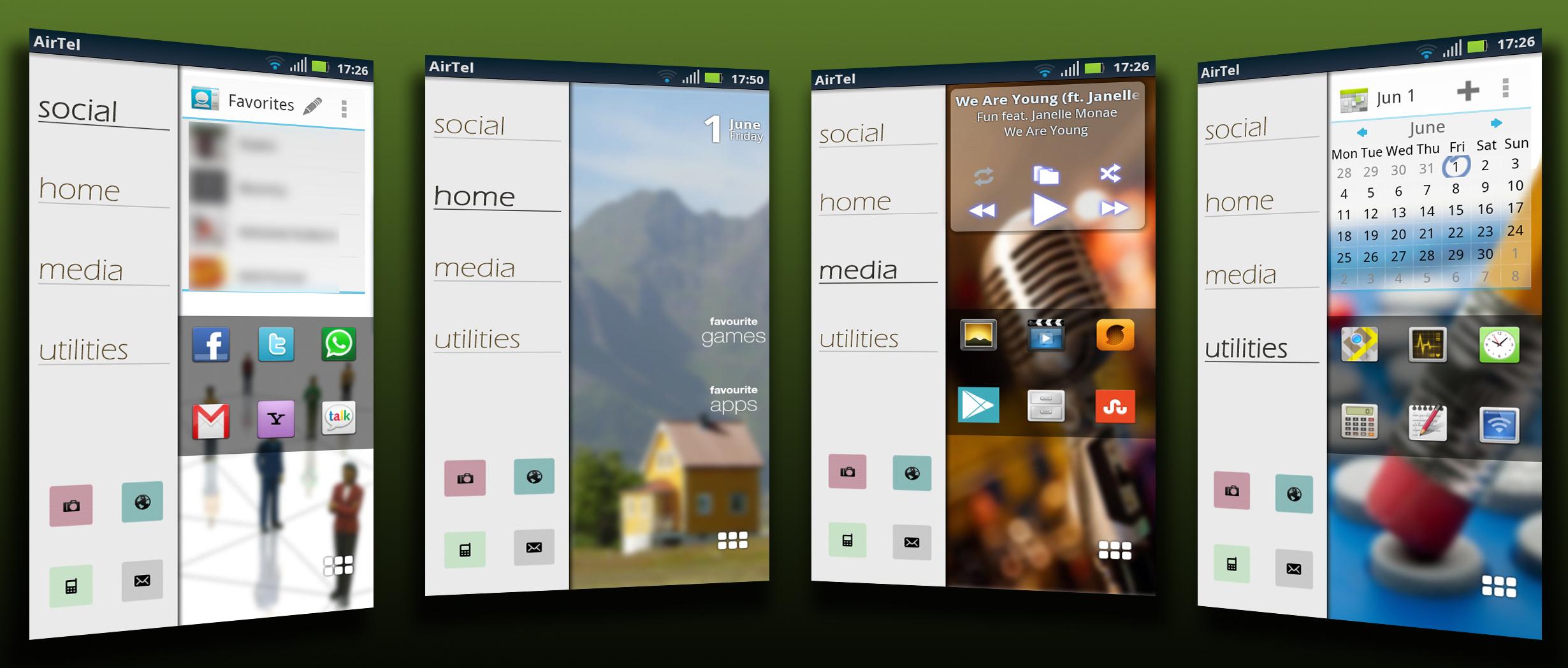 Split-Screen Homescreens by alabhya