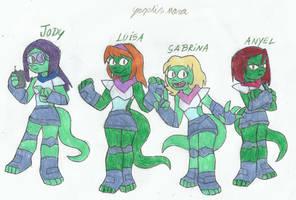 Flambo nemesis contest : the salamander warriors by yogelis