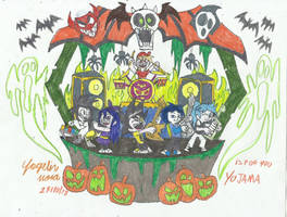 Art happy halloween yojama by yogelis