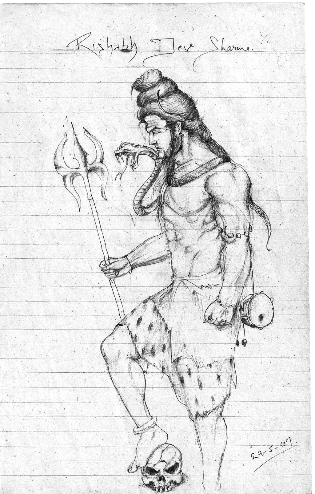 Shiva Sketch By Rishabh Devil On Deviantart
