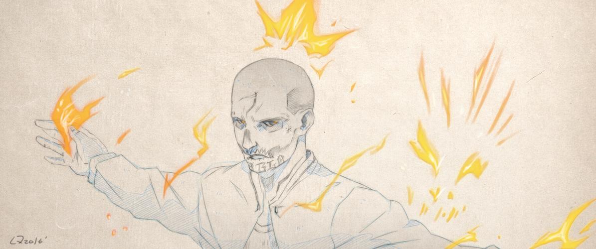 SuicideSquad-Sketch-Diablo by Quatre4