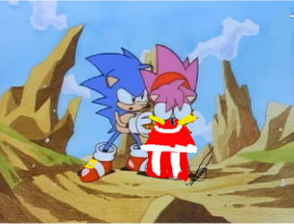 (Redraw) Sonic and Amy (ClassicandModern Mix-Up) by XxSonicForeverxX