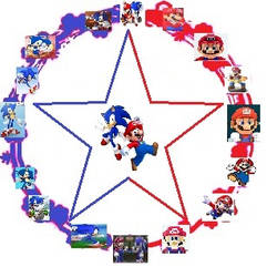 The 1st official logo of We Are Mario And Sonic by XxSonicForeverxX