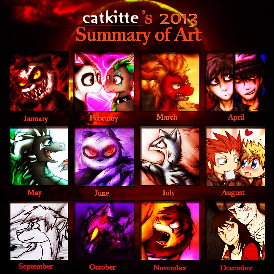 Catkitte's 2013 Art Summary by catkitte