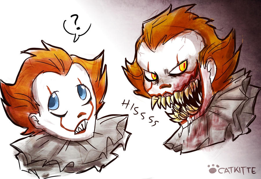 [Fanart] 2 Sides of Pennywise by catkitte on DeviantArt