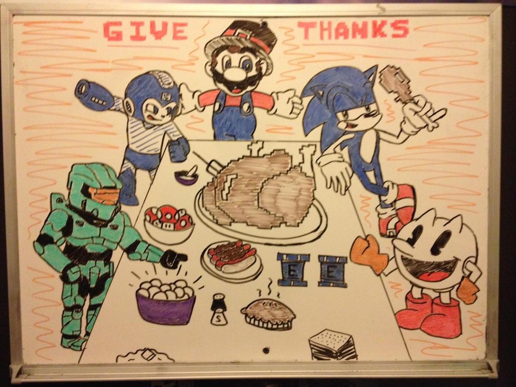 Video Game Thanksgiving Dinner By Heroxeus12 On Deviantart