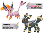 Mega Umbreon and Espeon (Sun/Moon)