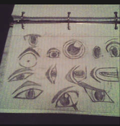 sketched anime eyes